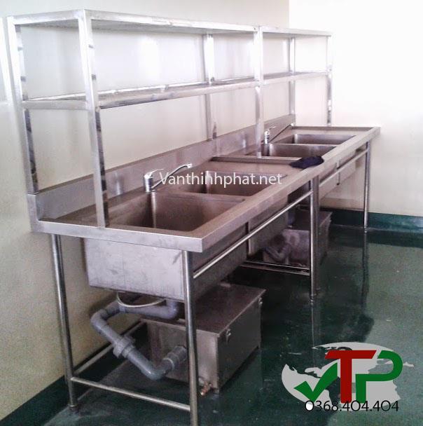 Chậu rửa có giá 2 tầng